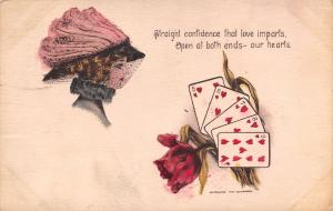 Playing Cards Romantic Pun~Hearts Open at Both Ends~Straight Flush~Cobb Shinn PC