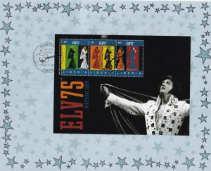 Elvis Presley 75th Anniversary Liberia Stamp Set First Day Cover