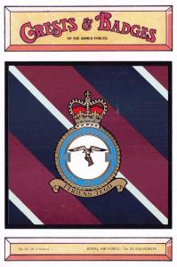 Postcard RAF Royal Air Force No.25 Squadron Crest Badge No.41 NEW