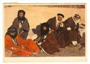 A group of Beduins , Jordan, PU-1955