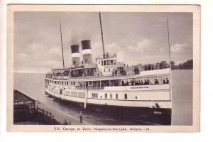 S S Cayuga at Dock, Niagara on the Lake, Ontario, F H Leslie, B&W