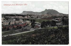 Scotland Edinburgh from Blackford Hill Vintage Postcard