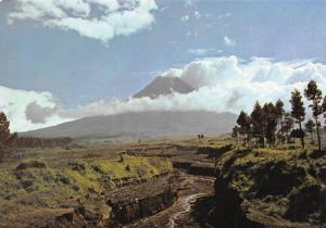 Indonesia A view of the Merapi Volcano from Jurang Jero near Yogyakarta Panorama