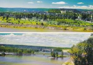 Canada Prince George Multi View Showing Fort George & Bridge Across Fraser River