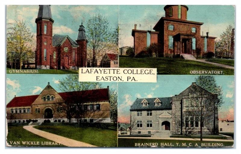 1914 Lafayette College, Easton, PA Postcard