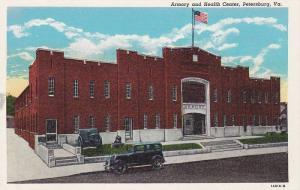 Exterior, Armory and Health Center, Petersburg, Virginia,  30-40s