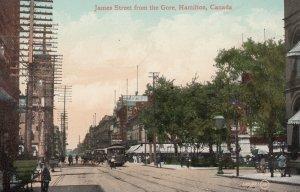 James Street From The Gore, HAMILTON, Ontario, Canada, 1910-1920s, Trolleys