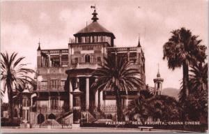 Palermo Real Favorita Casina Cinese Postcard D68