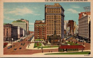 Ohio Cleveland Public Square Looking East 1948 Curteich