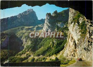 Modern Postcard On the Road Aubisque The output of the Little Tunnel and Gabi...
