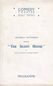 The Silent House Douglas Blandford Vintage Comedy Theatre London Programme
