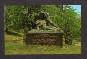VA Kirkland Monument Fredericksburg Battle Virginia Postcard Civil War