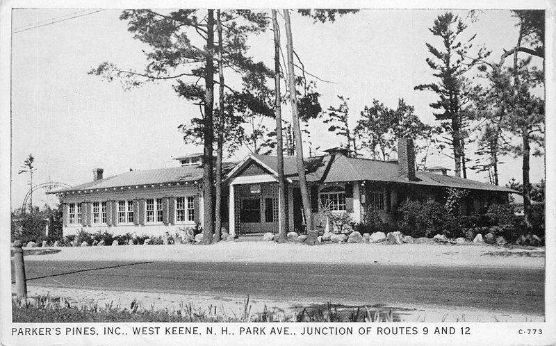 Gloss Tone 1930s Parkers Pines Inc West Keene New Hampshire Postcard 20-13749
