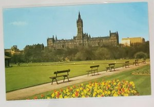 Vintage Postcard: Glasgow University from Kelvingrove Park. Dixon-Lotus.