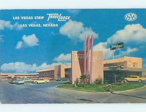 Damaged-Back Pre-1980 TRAVELODGE MOTEL ON THE STRIP Las Vegas Nevada NV c0512