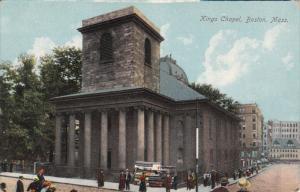 BOSTON, Massachusetts, 1900-1910's; Kings Chapel