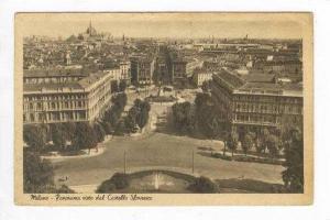 Milano, Italy, Panorama visto dal Castello Sforzesco, Pu-1925
