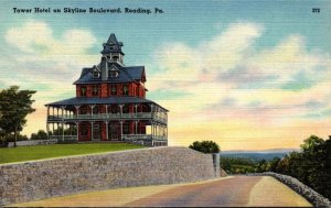 Pennsylvania Reading Tower Hotel On Skyline Boulevard