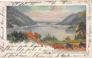 The Hudson River from West Point, Early Postcard, Used in 1904, Sent to Belgium