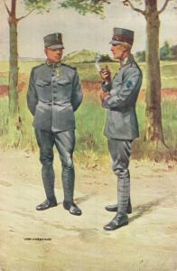 Military postcard Grenadiers en Jagers Soldaten in uitgaanstenue 02.14