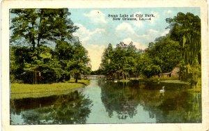 LA - New Orleans. City Park, Swan Lake