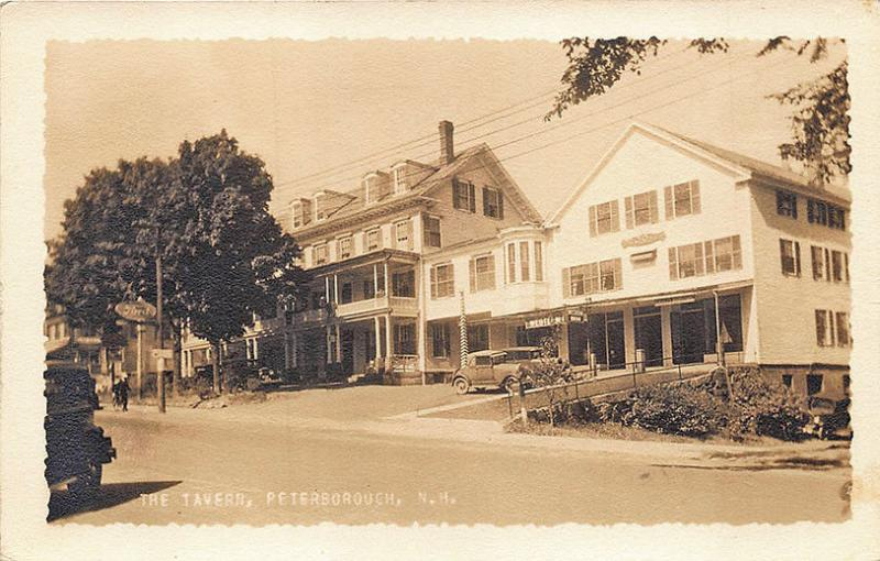 Peterborough NH The Tavern , Putnam Photographer Real Photo RPPC Postcard