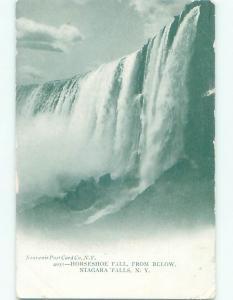 Unused Pre-1907 HORSESHOE FALLS WATERFALL FROM BELOW Niagara Falls NY Q1651