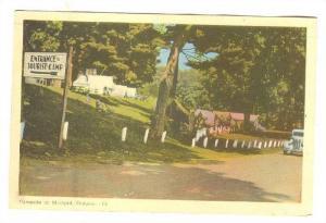 Entrance To Tourist Camp, Campsite At Midland, Ontario, Canada, PU-1947