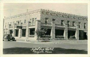 Augusta Kansas automobiles Fifth Avenue Hotel RPPC Photo Postcard 20-8487