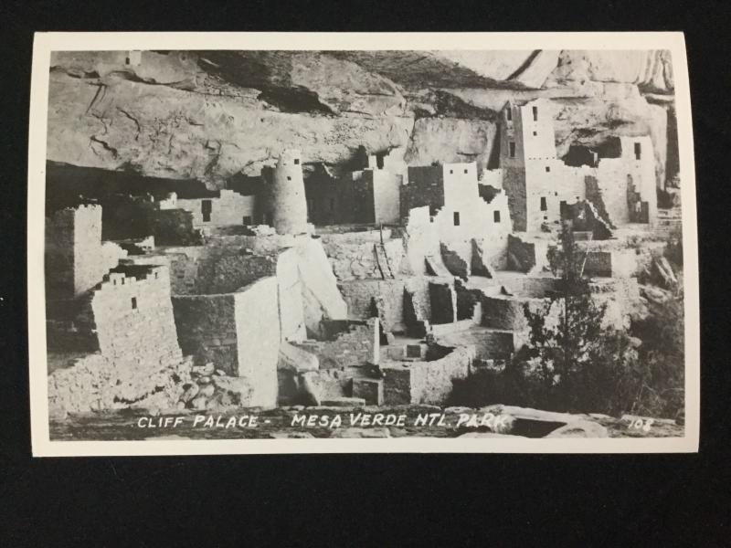 Early 1900s RPPC Cliff Palace, Mesa Verde National Park Real Photo Postcard