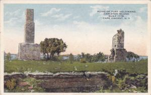 Ruins of Fort Heldimand Carelton Island, Built 1776, CAPE VINCENT, New York, ...