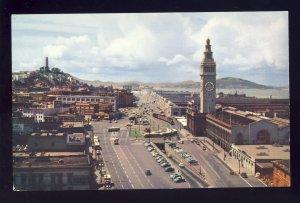 San Francisco, California/CA Postcard, Embarcadero Boulevard, Ferry Building