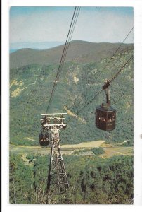 NH Franconia Notch Cannon Mountain Aerial Tramway Vntg C E Trask Photo Postcard