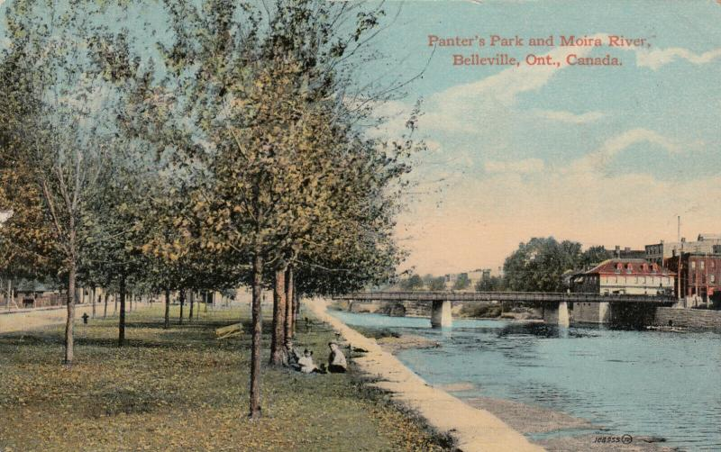 BELLEVILLE , Ontario , Canada , PU-1924 ; Panter's Park & Moira River