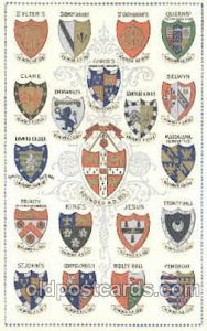 University of Cambridge, Coat Of Arms Postcard Post Card Writing on back