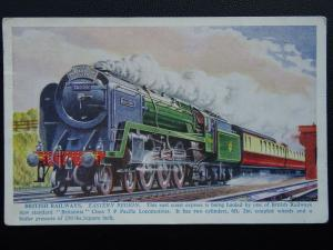 Railway BRITISH RAILWAYS Eastern Region BRITANNIA CLASS 7 PACIFIC - Old Postcard
