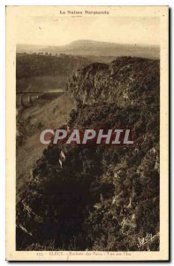 Old Postcard View Clecy La Suisse Normande Parks Rocks on the Im
