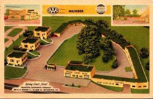 Virginia Wytheville Spring Court Motel 1951