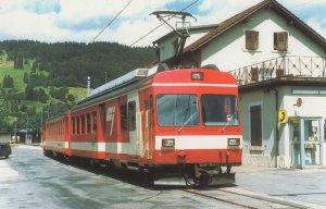 Chemins De Fer Du Jura 611 French Bus Tram Postcard