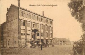 Belgium Belgique Marche vue animée de l´école professionnelle St-Remacle school