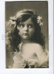 257758 NUDE Curly GIRL Long Hair FAIRY Vintage PHOTO BNK PC
