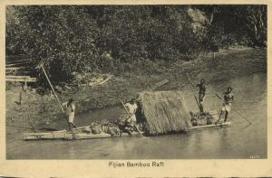 fiji islands, Native Fijian Bamboo Raft (1930s) Co-Operative No. 161