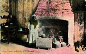 Vtg Cartolina 1912 Vecchio Sud da Cucina - Africano Americana Cucinare IN