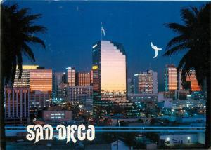 San Diego California United States Skyline at dusk