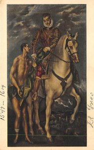 Art Post Card,Old Vintage Artist Postcard Saint Martin and the Beggar Spanish...