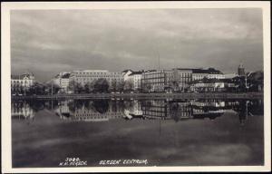 norway norge, BERGEN, Panorama Centrum (1920s) RPPC