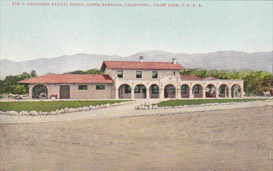 Southern Pacific Depot Santa Barbara California Coast Line Southern Pacific R...