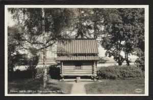 Wooden Storehouse Mora Sweden RPPC Unused c1935