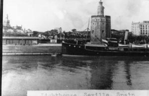 Seville Spain Lighthouse Real Photo Antique Postcard J56750