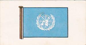 Vintage Trade Card Brooke Bond Tea Flags and Emblems Of The World No 50 Unite...